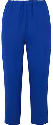 Marni - Cropped Crepe Tapered Pants - Blue