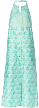 Courreges Pre-Owned printed evening dress