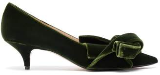 No.21 No. 21 - Knotted Velvet Pumps - Womens - Dark Green
