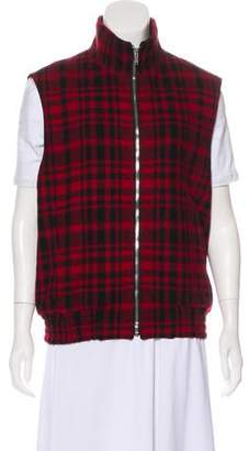 Saint Laurent Plaid Virgin Wool Vest