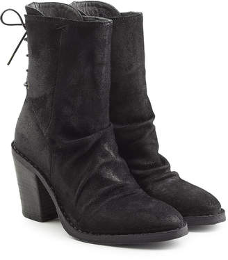 Fiorentini+Baker Sassy Suede Ankle Boots with Lace-Up Back