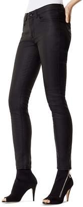 Karen Millen Coated Skinny Jeans in Black