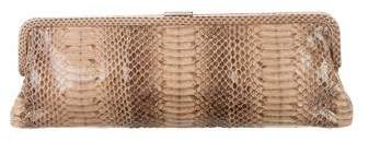 Michael Kors Python Frame Clutch - BROWN - STYLE