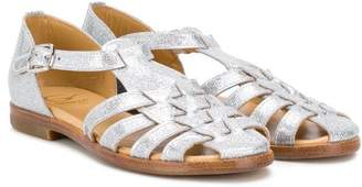 Gallucci Kids strappy glitter sandals