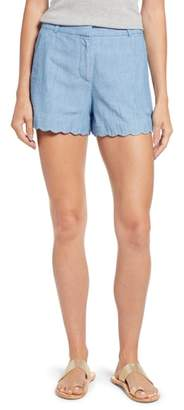 J.Crew Chambray Scallop Hem Shorts