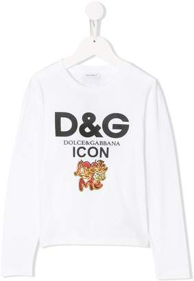 Dolce & Gabbana sequinned look at me T-shirt