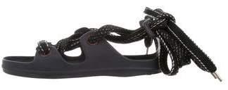 Acne Studios Lace-Up Rubber Sandals