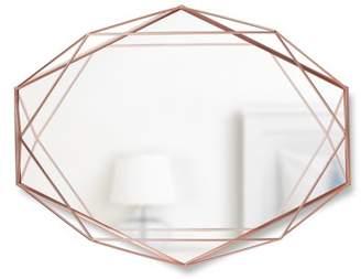 "Umbra Prisma Geometric Wire Frame Wall Mirror 22""x17"", Copper"