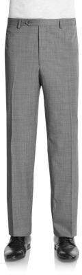 Saks Fifth Avenue Flat Front Wool Pants