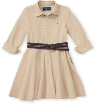 Ralph Lauren Kids Belted Cotton Chino Shirtdress