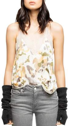 Zadig & Voltaire Christy Camo Camisole Top