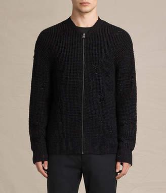 AllSaints Vektarr Zip Through Sweater