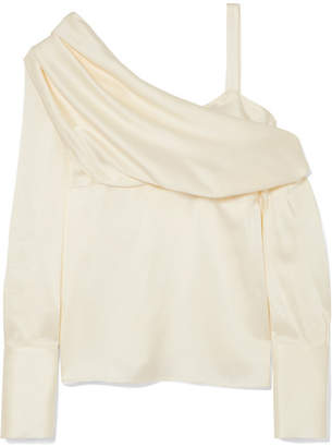 Monse One-shoulder Satin Blouse - Ivory