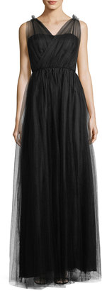 Donna Morgan Tulle Cross-Bodice Gown $199 thestylecure.com