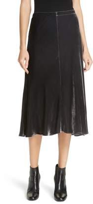 Eileen Fisher Velvet A-Line Skirt