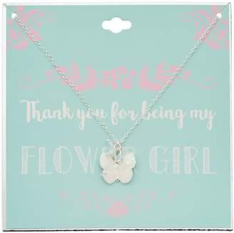 Glittery Butterfly Pendant Necklace