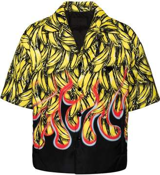 Prada banana and flame print shirt