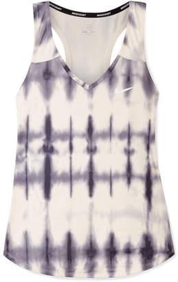 Nike Pure Tie-dyed Dri-fit Stretch Tank - Cream