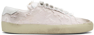 Saint Laurent Pink Court Classic California Sneakers $595 thestylecure.com