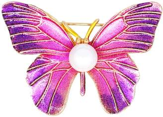 PalaeoWind Women's Elegant Fashion Painted Butterfly Brooch Temperament Pin,-One