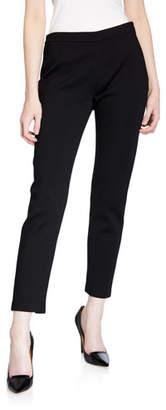 St. John Alexa Stretch Milano Knit Slim Ankle Pants