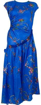 Preen by Thornton Bregazzi floral print ruched maxi dress