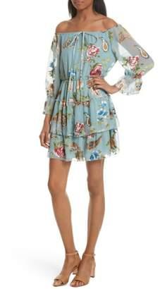 Alice + Olivia Waylon Off the Shoulder Blouson Dress