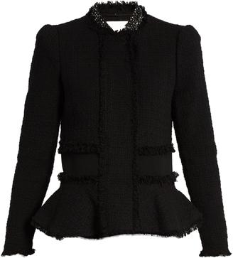 REBECCA TAYLOR Peplum tweed jacket $390 thestylecure.com