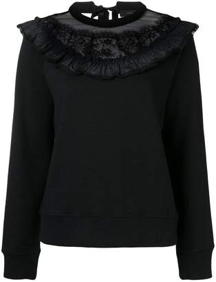 Marc Jacobs lace trim sweatshirt