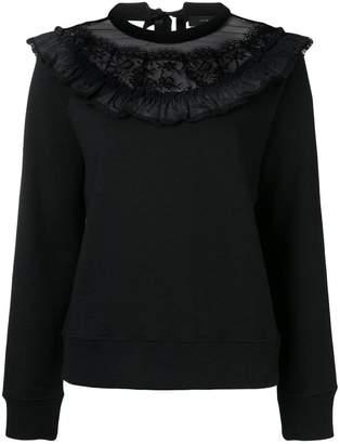 Marc Jacobs lace trim sweatshirt