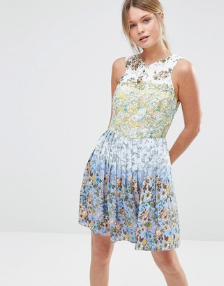 Oasis Ombre Ditsy Skater Dress $89 thestylecure.com