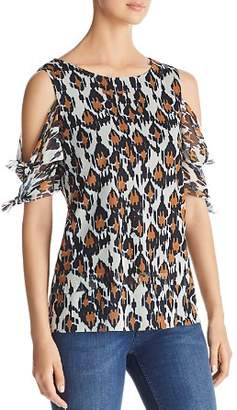 Love Scarlett Graphic Leopard Cold-Shoulder Top - 100% Exclusive