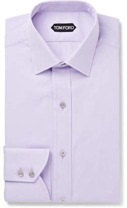 Tom Ford Lilac Slim-Fit Cotton-Poplin Shirt