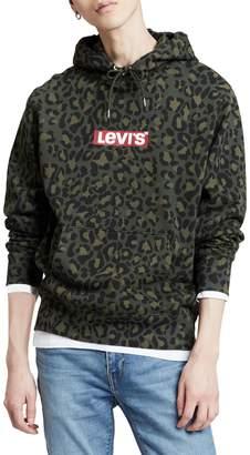 Levi's Graphic Po Cheetah-Print Cotton Fleece Hoodie