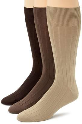 Calvin Klein Men's Cotton Rich Dress Socks (Pack of Three)
