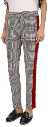 The Kooples Coly Glen Plaid Velvet Stripe Pants