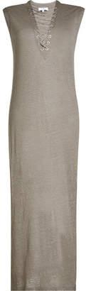 IRO Lace-Up Linen Dress