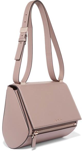 Givenchy - Pandora Box Medium Textured-leather Shoulder Bag - Beige