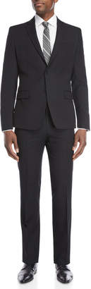 Versace Two-Piece Black Stripe Slim Fit Wool Suit