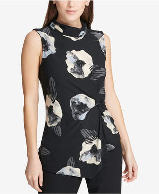 DKNY Ruched Asymmetrical Top