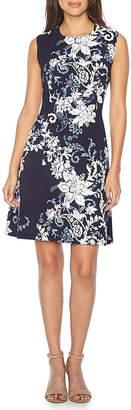 Studio 1 Sleeveless Paisley Fit & Flare Dress