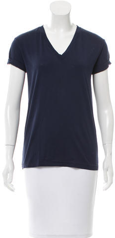 Alexander Wang T by Alexander Wang Short Sleeve V-Neck T-Shirt