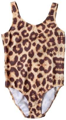 Leopard Print Lycra One Piece Swimsuit