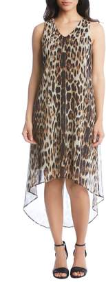 Karen Kane Sleeveless Leopard Print High/Low Dress