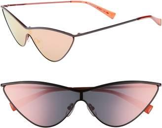 Le Specs Adam Selman X Luxe The Fugitive 71mm Sunglasses