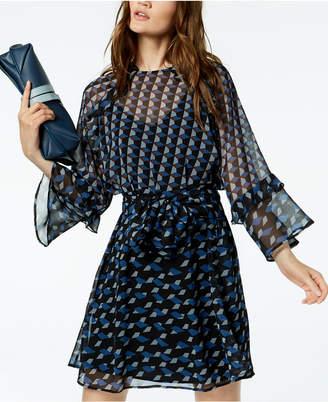 Marella Curzia Geo-Print Georgette Dress