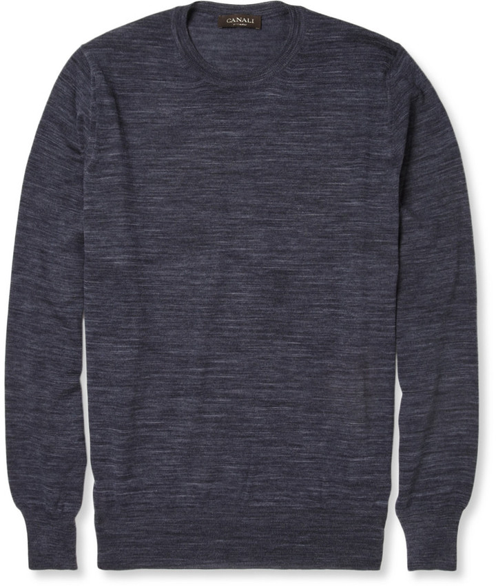 Canali Fine-Knit Wool Sweater