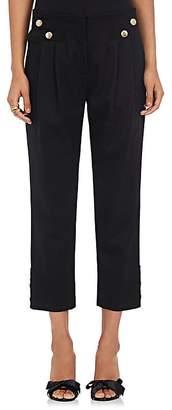 Mayle Maison Women's Vali Stretch Virgin Wool Twill Crop Ankle Pants