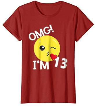 Kiss Smile Emoticon 13 Yrs old Girl SHIRT I'm 13 Years