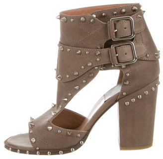 Laurence Dacade Studded Peep-Toe Ankle Boots $275 thestylecure.com